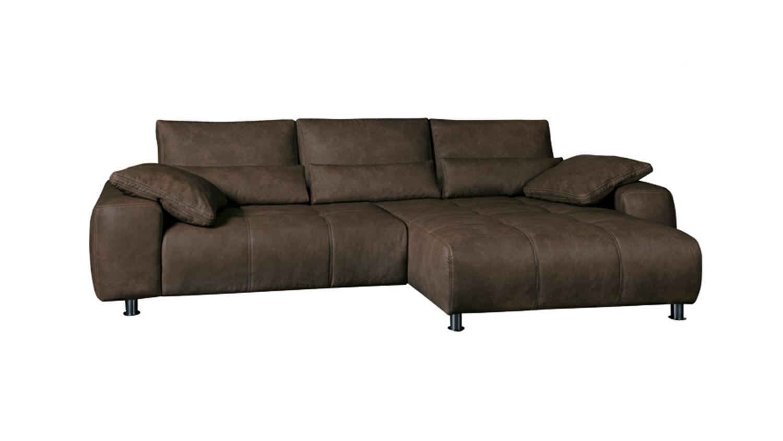 ecksofa briatore mit bettfunktion und bettkasten braun. Black Bedroom Furniture Sets. Home Design Ideas