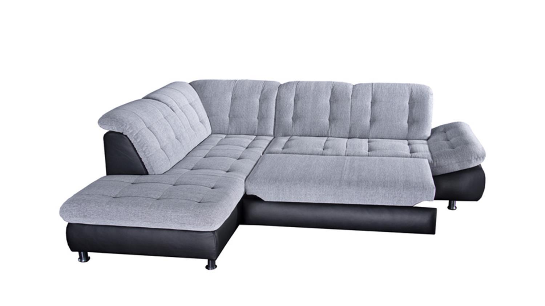 ecksofa milan schwarz und grau wei links 271x222 cm. Black Bedroom Furniture Sets. Home Design Ideas