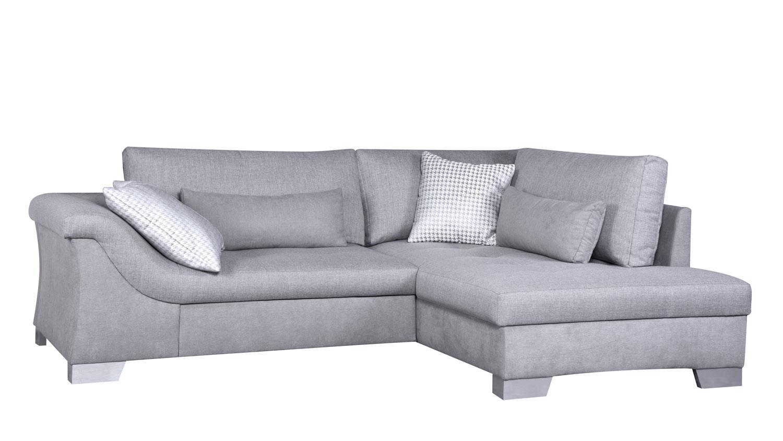 ecksofa aroa in stoff grau inkl nosagfederung 249x188 cm. Black Bedroom Furniture Sets. Home Design Ideas