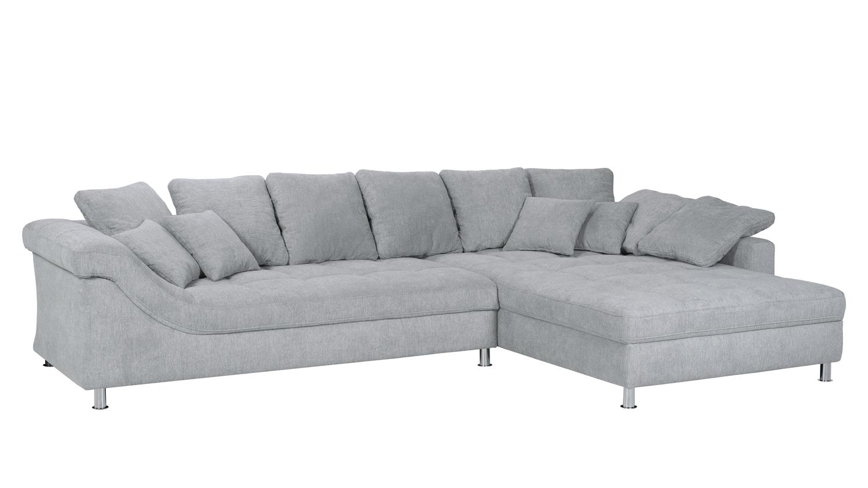 ecksofa nemea eckgarnitur sofa stoff hellgrau inkl kissen 339x222 cm. Black Bedroom Furniture Sets. Home Design Ideas