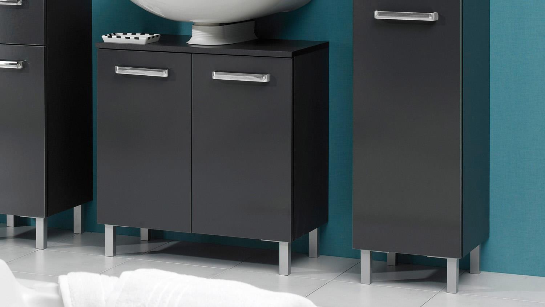 pelipal badezimmer mainz badm bel in anthrazit inkl led beleuchtung. Black Bedroom Furniture Sets. Home Design Ideas