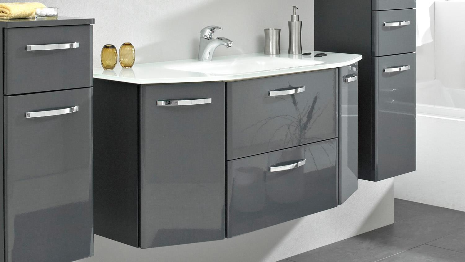 pelipal waschbeckenunterschrank velo in anthrazit hochglanz t rd mpfer. Black Bedroom Furniture Sets. Home Design Ideas