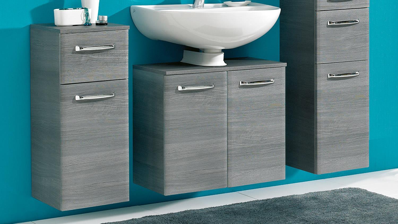 pelipal badezimmer alika badm bel graphit grau inkl led beleuchtung. Black Bedroom Furniture Sets. Home Design Ideas