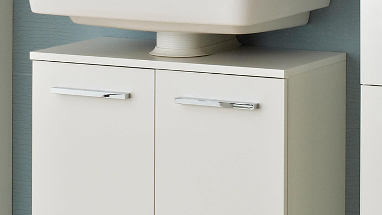 pelipal waschbeckenunterschrank trier front in wei glanz und chrom. Black Bedroom Furniture Sets. Home Design Ideas