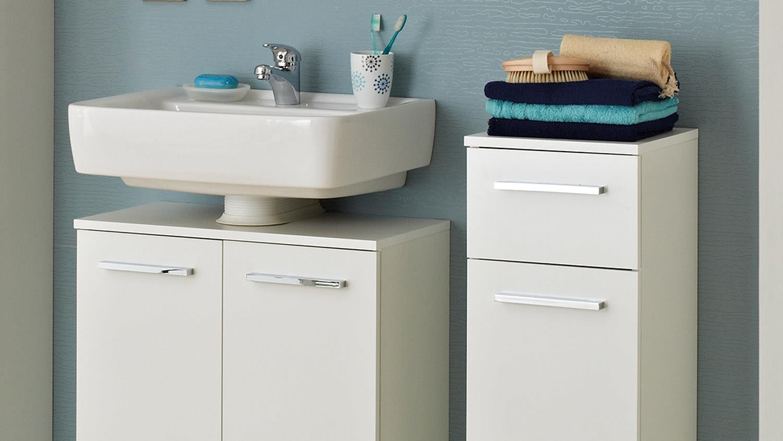 pelipal badezimmer trier komplettset wei glanz inkl led beleuchtung. Black Bedroom Furniture Sets. Home Design Ideas
