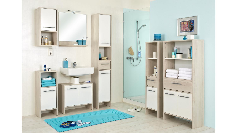 pelipal hochschrank jan badm bel schrank in pinie ida hell wei glanz. Black Bedroom Furniture Sets. Home Design Ideas