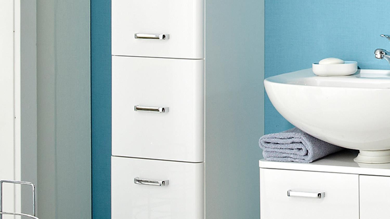pelipal hochschrank piolo badm bel in wei hochglanz inkl t rd mpfer. Black Bedroom Furniture Sets. Home Design Ideas