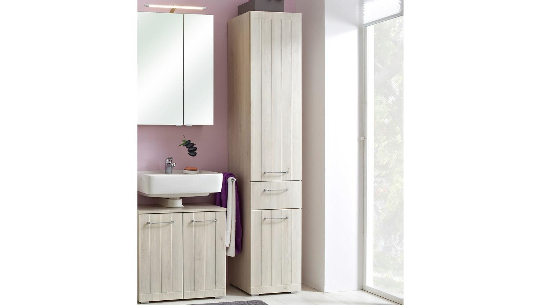 pelipal hochschrank mare badm bel in pinie ida hell inkl t rd mpfer. Black Bedroom Furniture Sets. Home Design Ideas