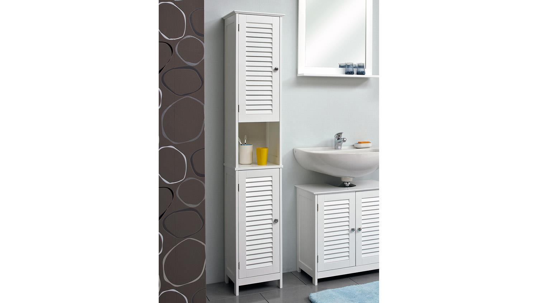 pelipal hochschrank jasper badm bel schrank 2 t rig wei mit lamelle. Black Bedroom Furniture Sets. Home Design Ideas