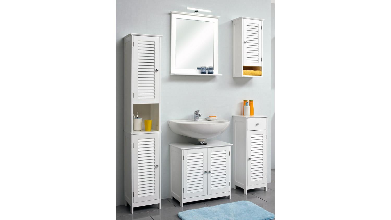 pelipal badezimmer jasper badm bel set in wei mit lamelle und spiegel. Black Bedroom Furniture Sets. Home Design Ideas