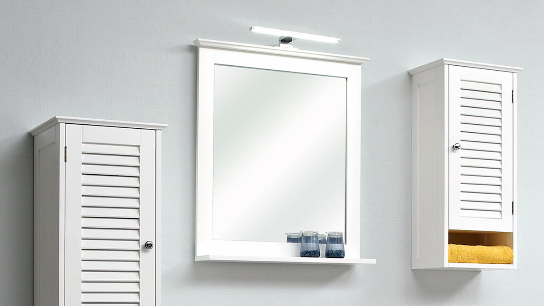 Außergewöhnlich Pelipal Badezimmer JASPER Badmöbel Set In Weiß Mit Lamelle Und Spiegel