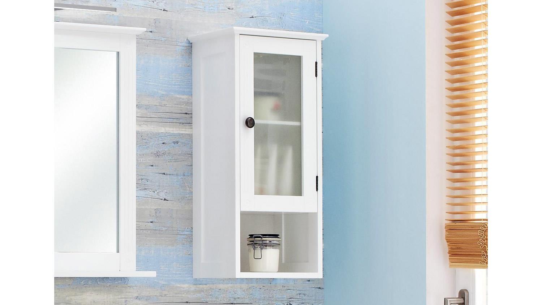 pelipal h ngeschrank maxim badm bel schrank 1 t rig in wei mit glas. Black Bedroom Furniture Sets. Home Design Ideas