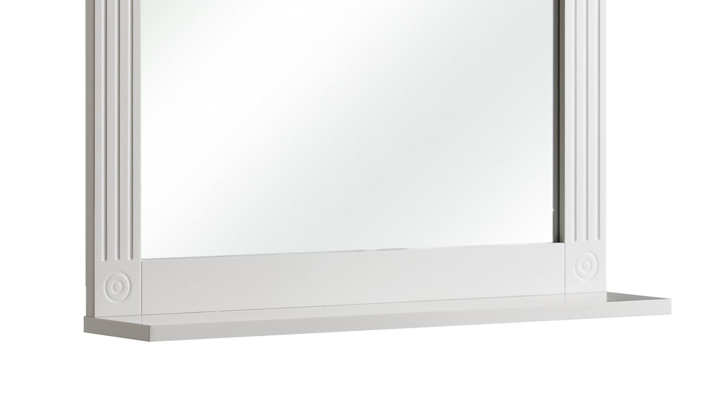 Pelipal Spiegel MAXIM Badmöbel Wandspiegel in weiß mit Ablage 60x68 cm