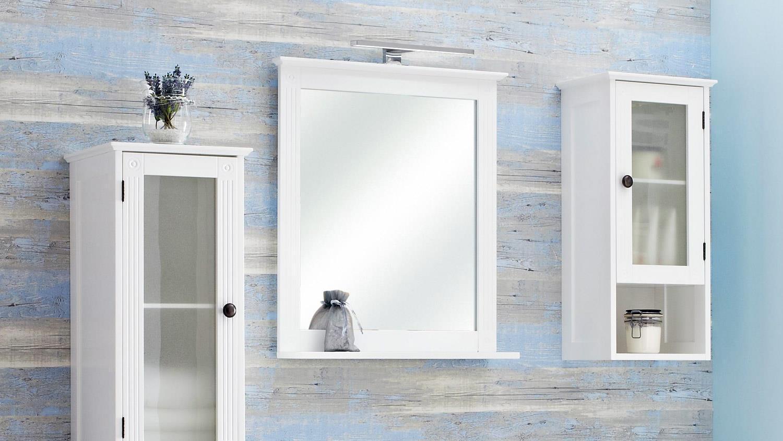 Pelipal Badezimmer MAXIM Badmöbel Komplettset weiß mit Glas 5-teilig