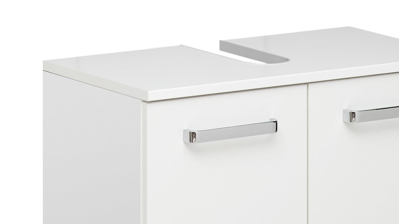 Pelipal Badezimmer WIESBADEN weiß Glanz inkl. LED-Beleuchtung 5-teilig