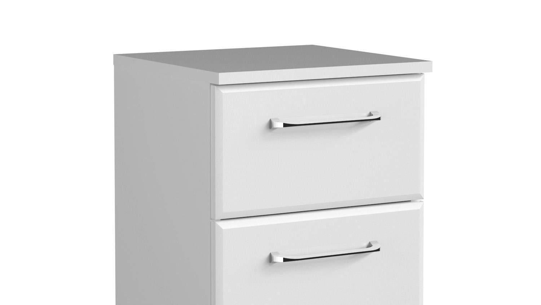 pelipal kommode filo badm bel in wei hochglanz inkl t rd mpfer. Black Bedroom Furniture Sets. Home Design Ideas