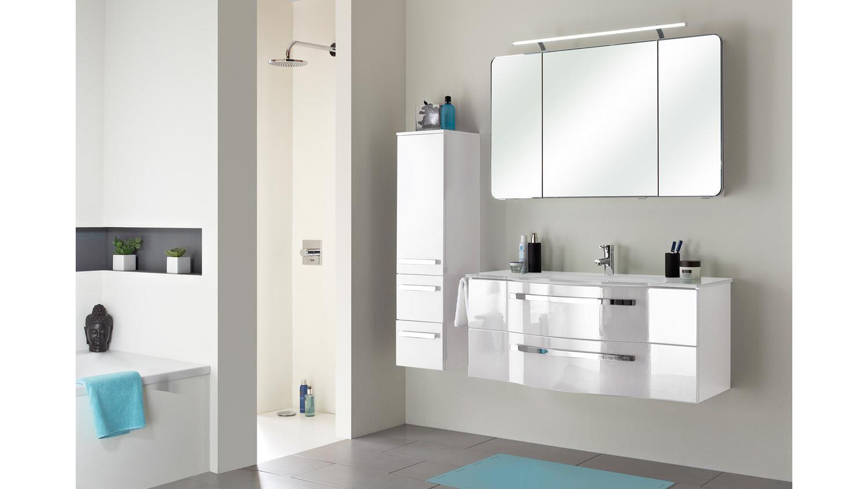 pelipal midischrank fokus badm bel schrank in wei hochglanz lack. Black Bedroom Furniture Sets. Home Design Ideas