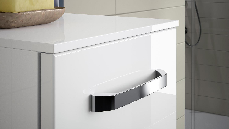 pelipal kommode fokus badm bel schrank 1 t rig front in wei hochglanz. Black Bedroom Furniture Sets. Home Design Ideas