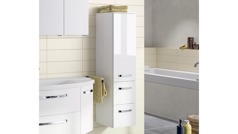 pelipal midischrank fokus badm bel schrank front in wei hochglanz. Black Bedroom Furniture Sets. Home Design Ideas