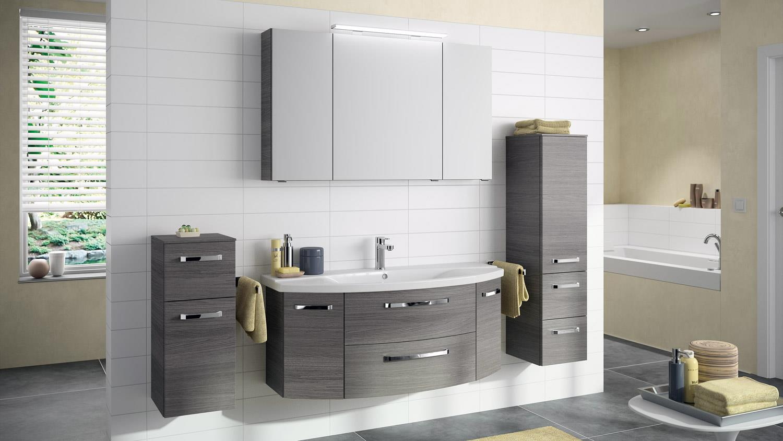 pelipal kommode fokus badm bel schrank 1 t rig in graphit struktur. Black Bedroom Furniture Sets. Home Design Ideas