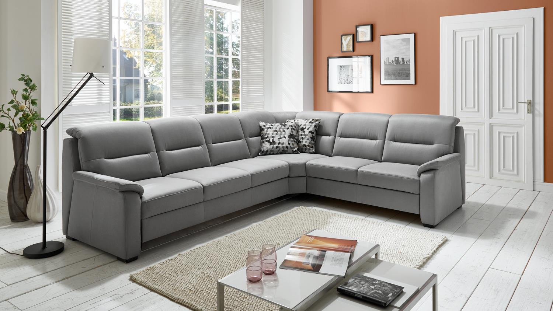 ecksofa memphis bezug stoff grau f e holz schwarz inkl nosagfederung. Black Bedroom Furniture Sets. Home Design Ideas