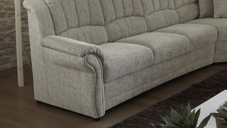ecksofa infeeling l f rmig bezug in stoff sand grau mit nosagfederung. Black Bedroom Furniture Sets. Home Design Ideas
