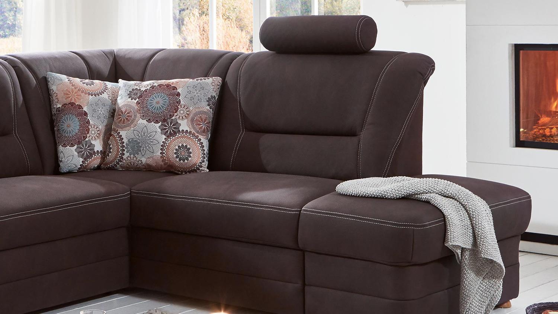 wohnlandschaft montes ecksofa u form stoff braun. Black Bedroom Furniture Sets. Home Design Ideas
