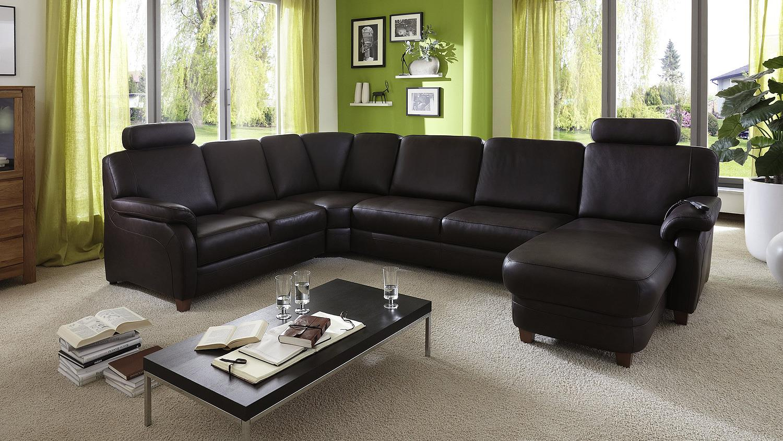 wohnlandschaft leder. Black Bedroom Furniture Sets. Home Design Ideas