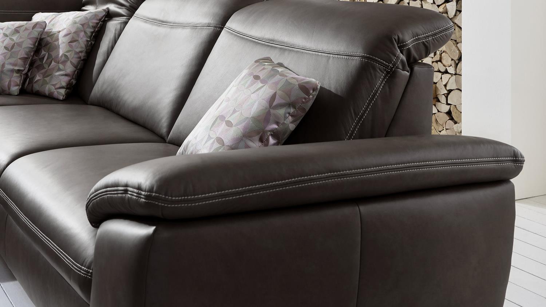 ecksofa raya bezug leder braun f e holz wildeiche inkl. Black Bedroom Furniture Sets. Home Design Ideas