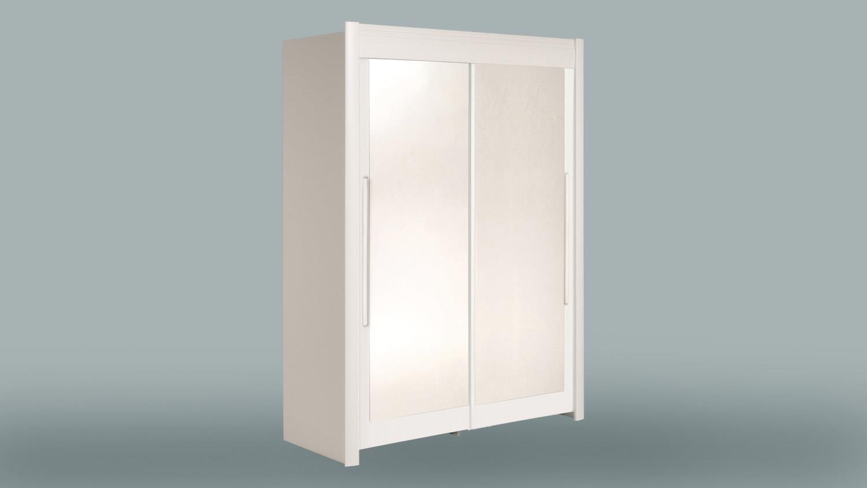 schwebet renschrank celebrity kleiderschrank in wei mit spiegel 157. Black Bedroom Furniture Sets. Home Design Ideas