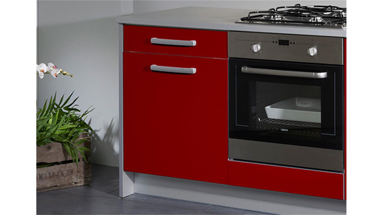 simply single k che rot hochglanz grau 245 cm. Black Bedroom Furniture Sets. Home Design Ideas