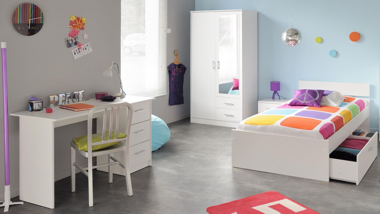 Schreibtisch infinity wei kinder und jugendzimmer for Kinder jugendzimmer