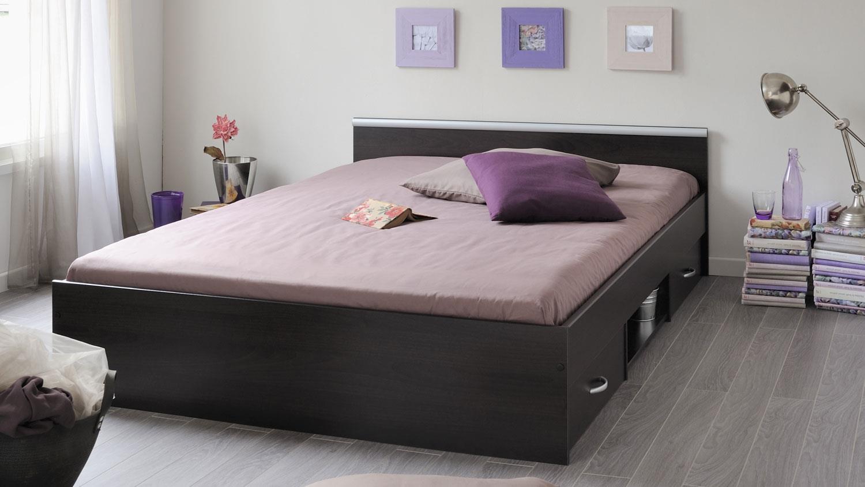 bett mega schlafzimmerbett kaffee braun schubkasten 140x200. Black Bedroom Furniture Sets. Home Design Ideas