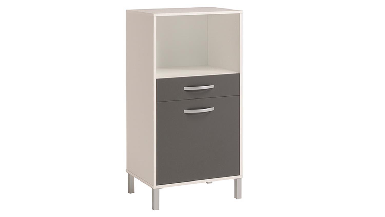 OPTIBOX in weiß und grau 60 cm | {Küchenschrank grau 42}