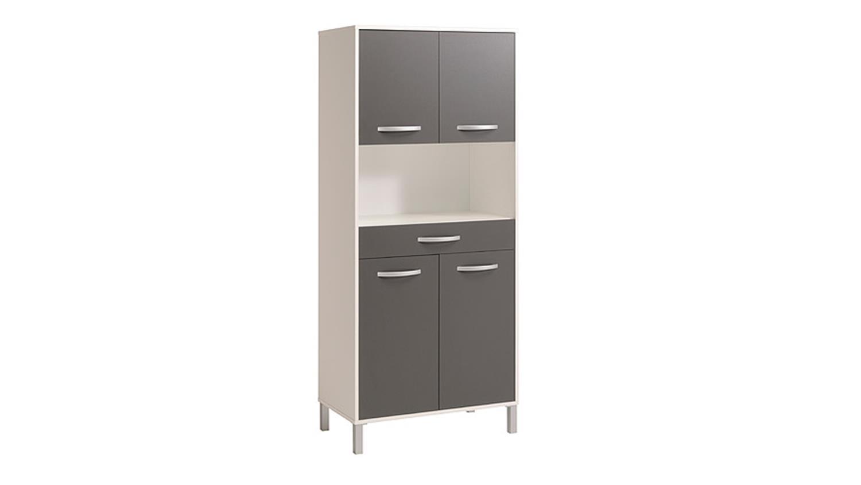 k chenbuffet optibox k chenschrank in wei und grau dekor. Black Bedroom Furniture Sets. Home Design Ideas