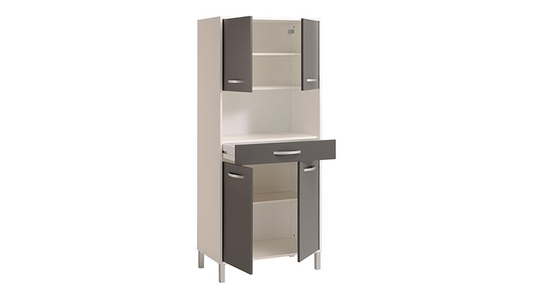 OPTIBOX Küchenschrank in weiß und grau Dekor