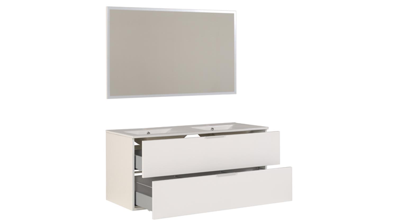 badm bel set luxy 3 wei hochglanz 2 waschbecken badschrank. Black Bedroom Furniture Sets. Home Design Ideas