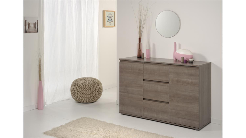 kommode neo 24 sideboard anrichte in eiche silber 105. Black Bedroom Furniture Sets. Home Design Ideas