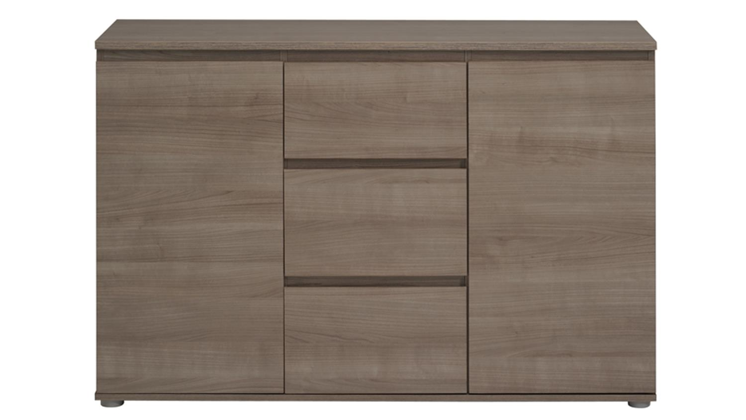 kommode neo 24 sideboard anrichte in eiche silber 105. Black Bedroom Furniture Sets. Home Design Ideas