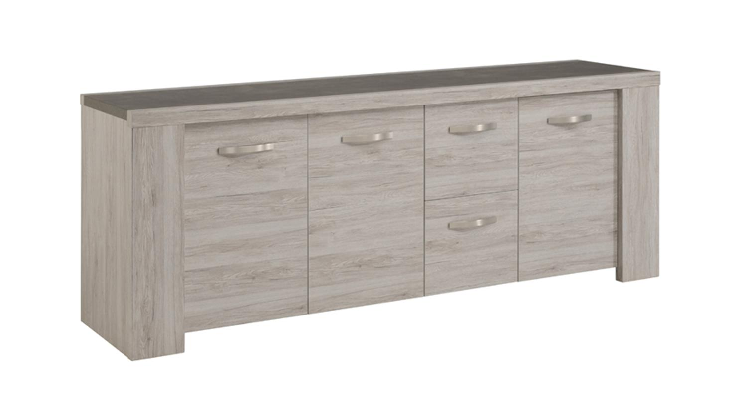 sideboard malone 21 kommode anrichte eiche steinoptik grau. Black Bedroom Furniture Sets. Home Design Ideas