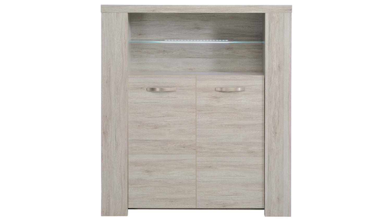 highboard malone 26 anrichte sideboard eiche steinoptik grau. Black Bedroom Furniture Sets. Home Design Ideas