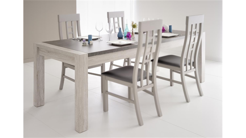 MALONE 31 in Eiche Steinoptik grau Tisch 180 cm
