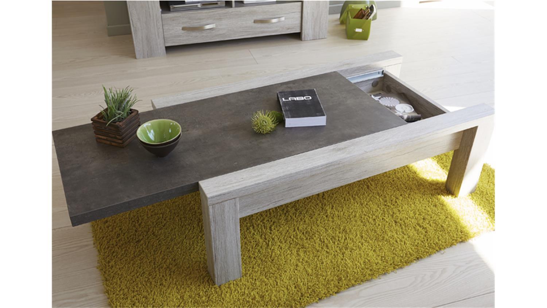 3tlg wohnzimmer set malone 41 in eiche steinoptik grau. Black Bedroom Furniture Sets. Home Design Ideas