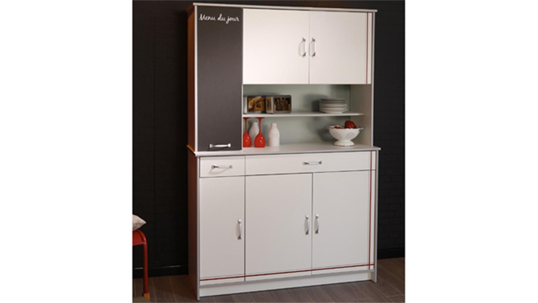 buffet bistrot 2 mehrzweckschrank wei mit absetzungen. Black Bedroom Furniture Sets. Home Design Ideas