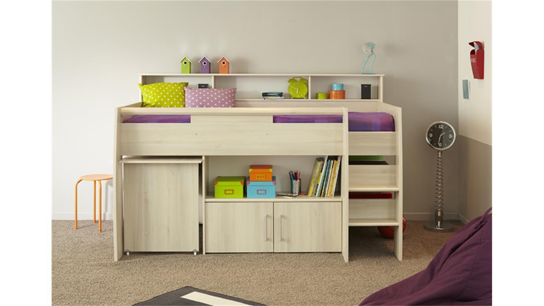 halbhohes bett mit treppe elegant asoral hochbett loft xl liso mit treppe stauraum with. Black Bedroom Furniture Sets. Home Design Ideas