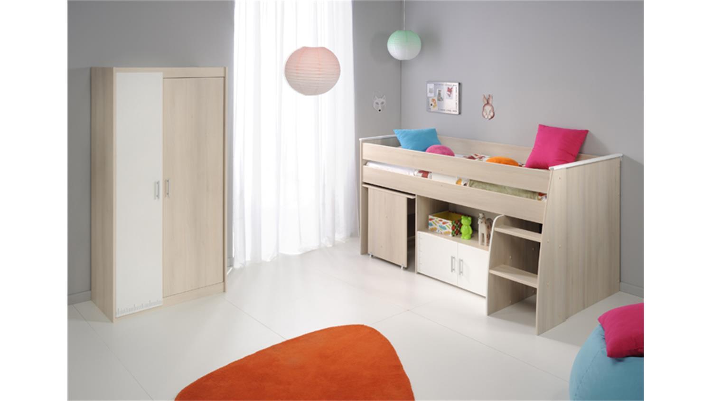kinderzimmer charly 5 2 teilig akazie wei schreibtisch. Black Bedroom Furniture Sets. Home Design Ideas