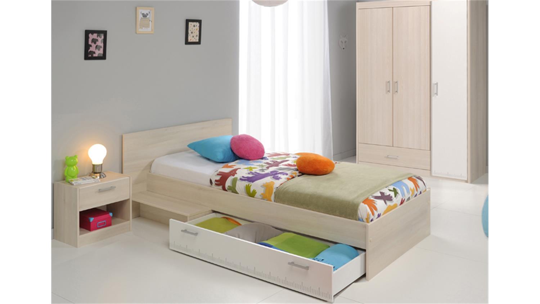 jugendzimmer charly 14 3 teilig akazie wei schrank 3 trg. Black Bedroom Furniture Sets. Home Design Ideas