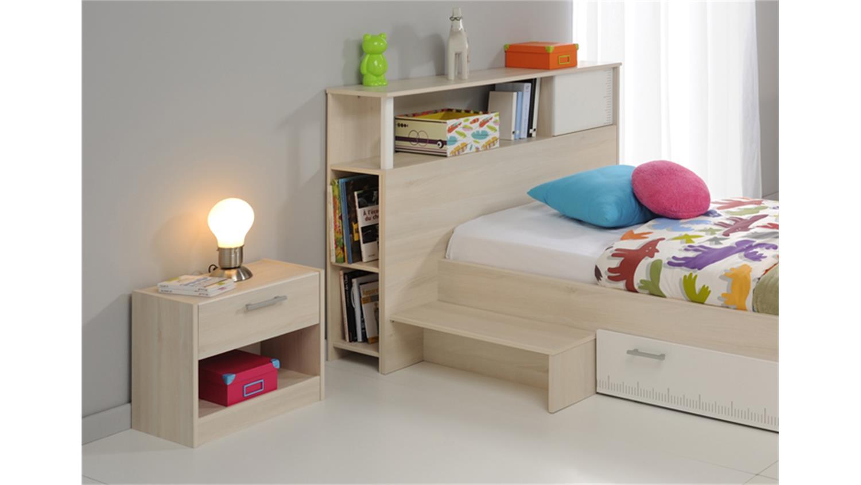 jugendzimmer charly 16 5 teilig akazie wei schrank 2 trg. Black Bedroom Furniture Sets. Home Design Ideas