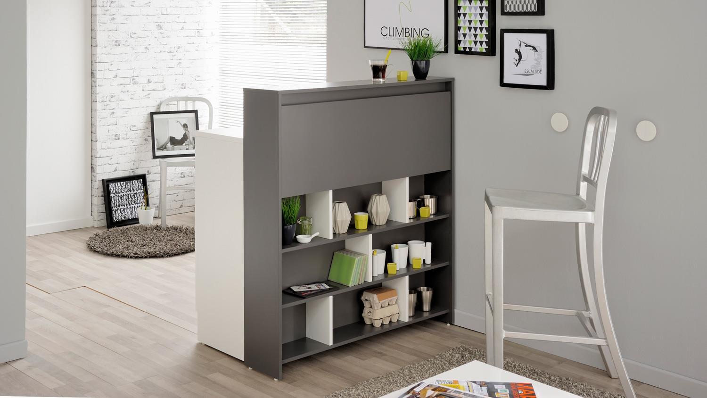 multifunktionsregal keysi bar theke regal in grau und wei. Black Bedroom Furniture Sets. Home Design Ideas