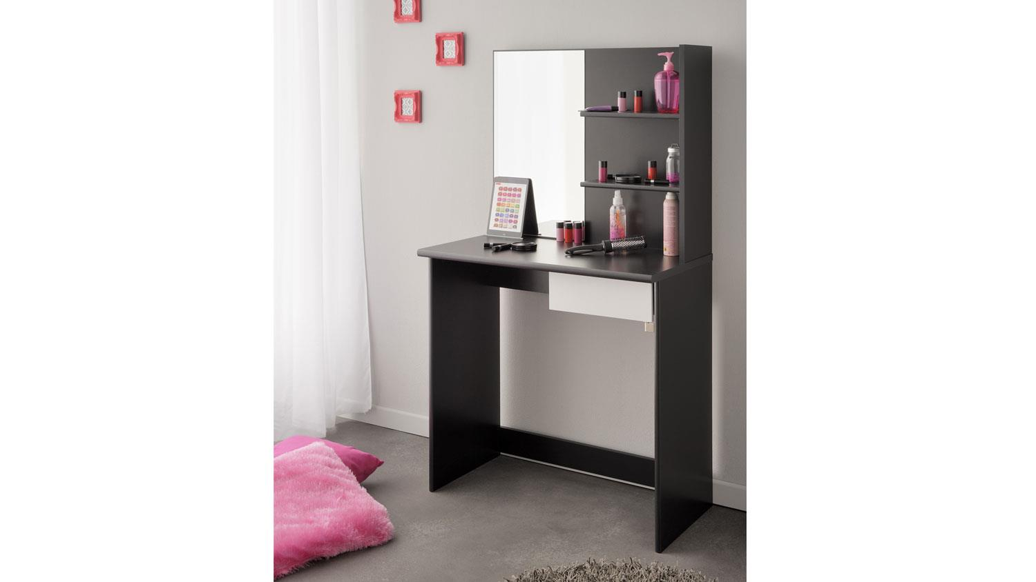 schminktisch pimpante frisiertisch in schwarz wei. Black Bedroom Furniture Sets. Home Design Ideas